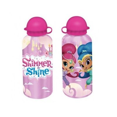 Botella aluminio 500ml Shimmer & Shine - rosa