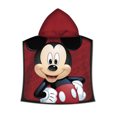 Poncho toalla con capucha microfibra Mickey Mouse