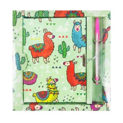 Wholesaler of Diario con candado Llama - verde
