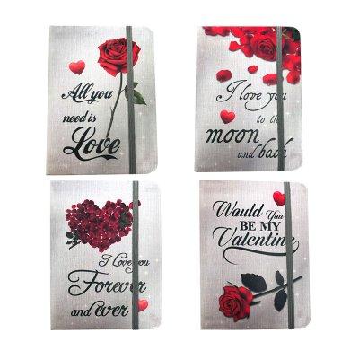 Libreta cinta lateral San Valentín