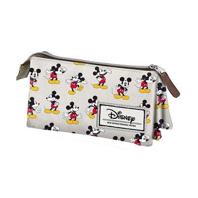 Estuche portatodo triple Classic Mickey Mouse