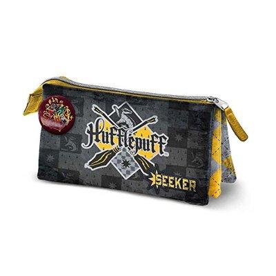 Estuche triple Harry Potter HS Quidditch Hufflepuff