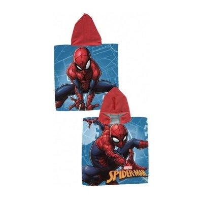 Poncho con capucha toalla microfibra Spiderman