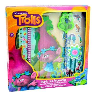 Set diario con accesorios Trolls