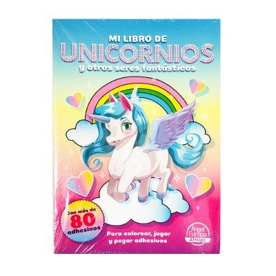 Libros Pega y colorea Unicornios 30x20cm