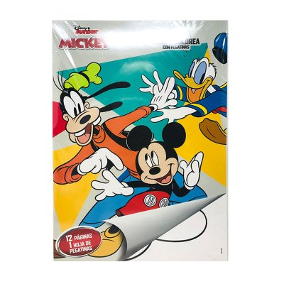 Libros pega y pinta Mickey Mouse