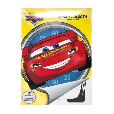 Libros pega y pinta Cars Disney
