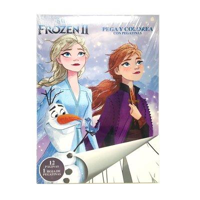 Libros pega y pinta Frozen II Ana y Elsa
