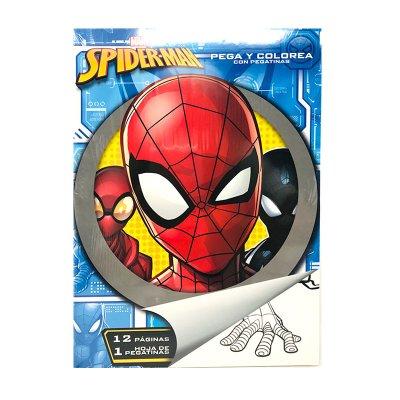 Libros pega y pinta Spiderman Marvel