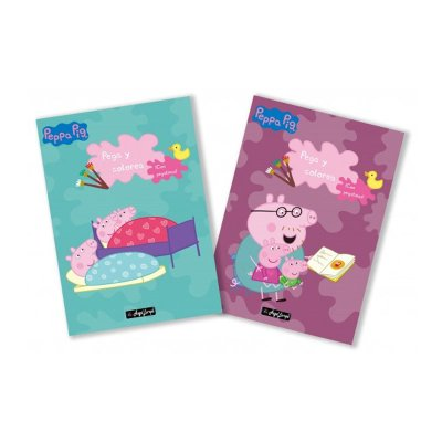 Libros Pega y colorea Peppa Pig 30x20cm 40 páginas