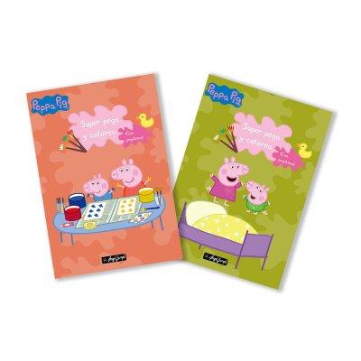 Libros Pega y colorea c/pegatinas Peppa Pig 30x20cm 40 páginas