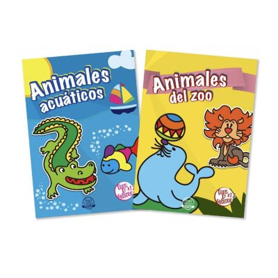Wholesaler of Libros pega y colorea Animales del zoo y acuáticos 21x30cm