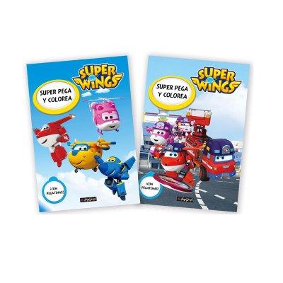 Libros Pega y Colorea Super Wings