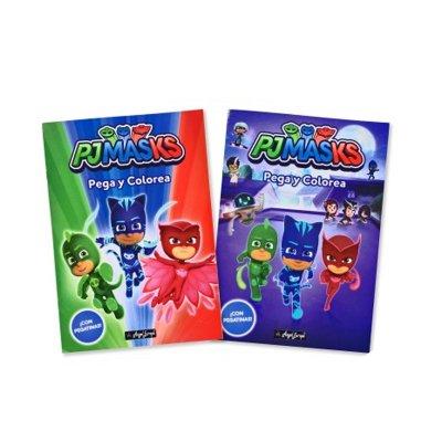 Libros Pega y Colorea PJ Masks 29x21cm