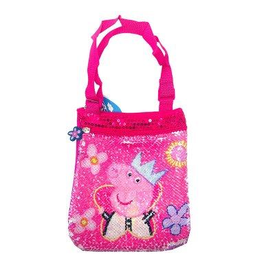 Bolso bandolera lentejuelas Peppa Pig