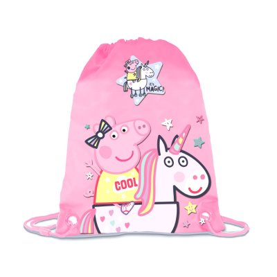 Saco pequeño Peppa Pig Unicornio 24cm