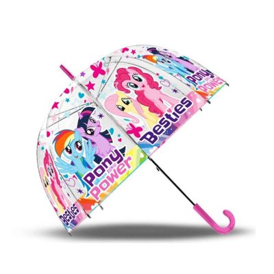 Paraguas transparente manual My Little Pony burbuja 48cm 19""