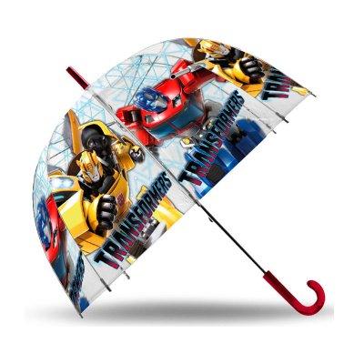 Paraguas transparente manual Transformers 48cm