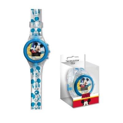 Reloj digital Mickey Mouse c/luz LED