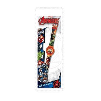 Reloj digital Los Vengadores Marvel - rojo