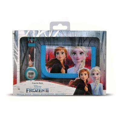 Set reloj digital y billetera de Frozen 2