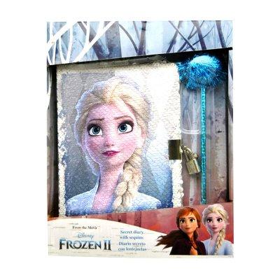 Diario lentejuelas c/bolígrafo Frozen 2