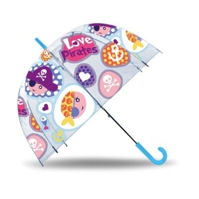 Paraguas cúpula automático Love Pirates 45cm