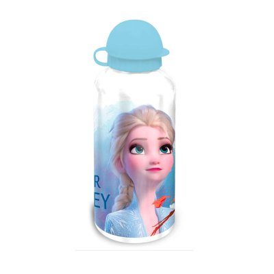 Botella aluminio 500ml Elsa Frozen - blanco