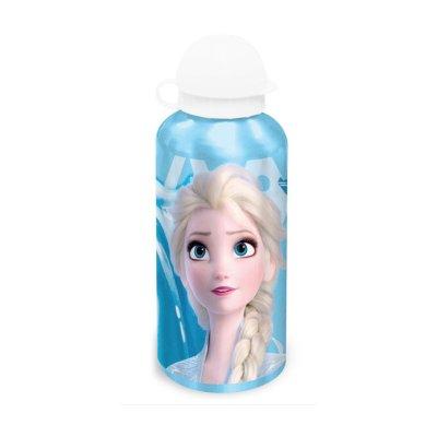 Botella aluminio 500ml Elsa Frozen - azul