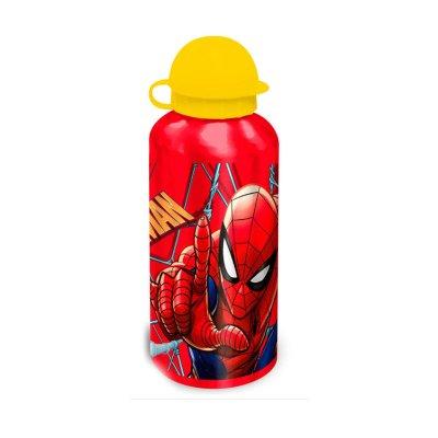 Botella aluminio 500ml Spiderman - rojo