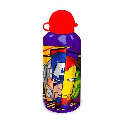 Botella aluminio 500ml Los Vengadores - violeta