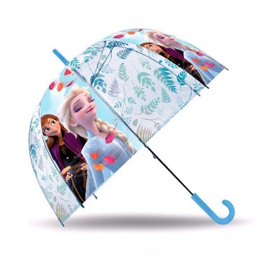 Paraguas cúpula automático Ana & Elsa Frozen 48cm