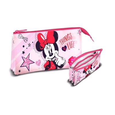 Estuche triple Minnie Mouse Disney
