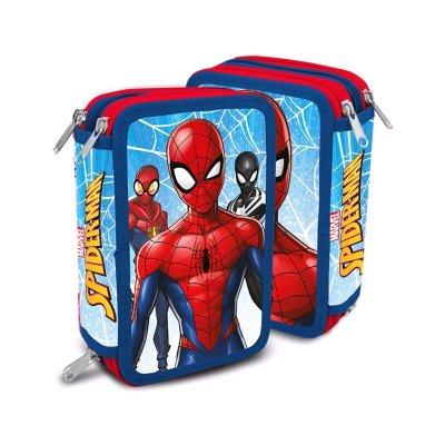 Plumier triple Spiderman 20cm