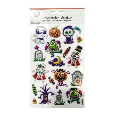Wholesaler of Pegatinas 3D Monstruos Glitter Halloween