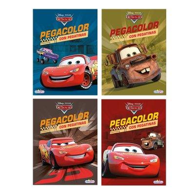Wholesaler of Libros Pegacolor Cars 21x28cm 8 páginas 4 adhesivas