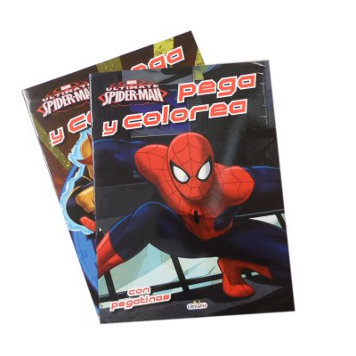 Libros Pegacolor Spiderman 21x28cm 12 páginas + 4 pegatinas