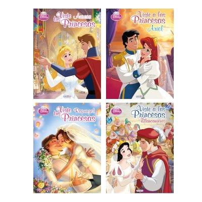 Libros Viste a las Princesas Disney 21x28cm 8 páginas