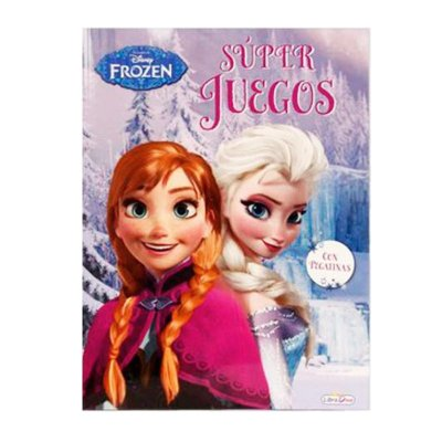 Libros Super Juegos Frozen 21x28cm 48 páginas 2 adhesivas