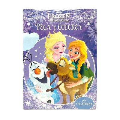 Libro Pega y Colorea Ana y Elsa Frozen 21x28cm