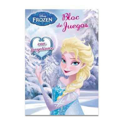 Bloc Juegos Pegatinas Frozen Disney 13x19cm 128 pg 2 adhes