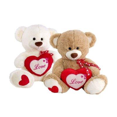 Peluches osos c/corazón 20cm