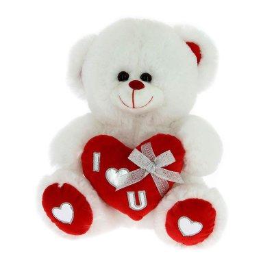 Peluche oso c/corazón 20cm