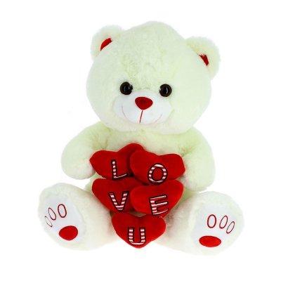 Peluche oso c/corazón Love 20cm
