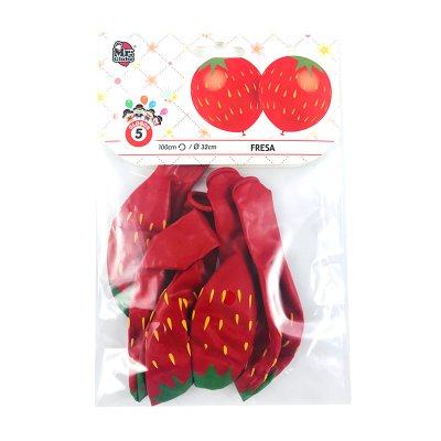 Wholesaler of Set 5 globos de fiesta Fresa