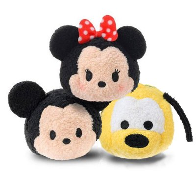 "Peluches Disney Tsum Tsum mini 8cm 3"" - set 1"