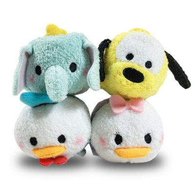 "Peluches Disney Tsum Tsum mini 8cm 3"" - set 4"