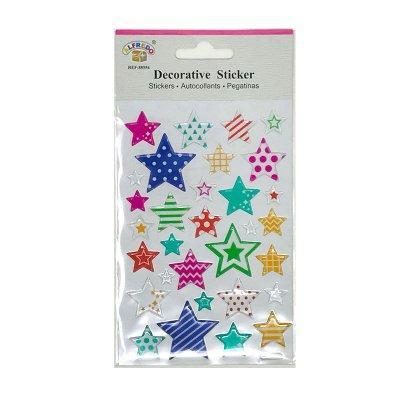 Pegatinas 3D Estrellas colores