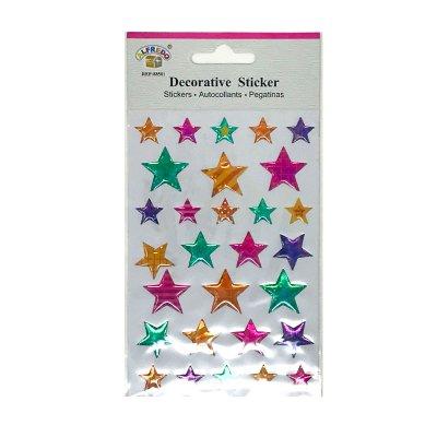 Pegatinas 3D Estrellas colores brillantes