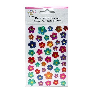 Pegatinas 3D Flores brillantes